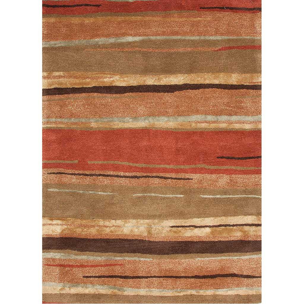 Baroque Bernini Classic Rust/Bronze Green Area Rug