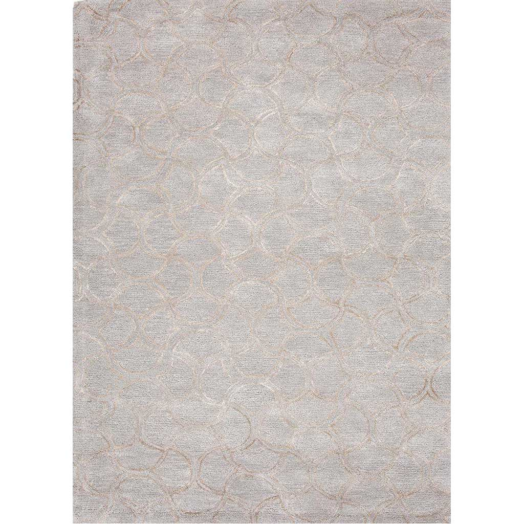 Baroque Caravaggio Sky Blue/Gray Area Rug