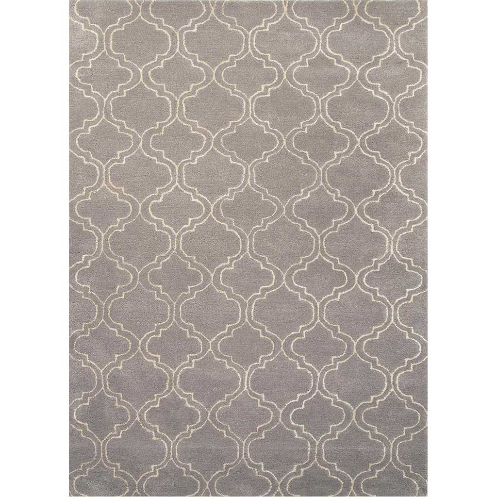 Baroque Hampton Nickel/White Area Rug