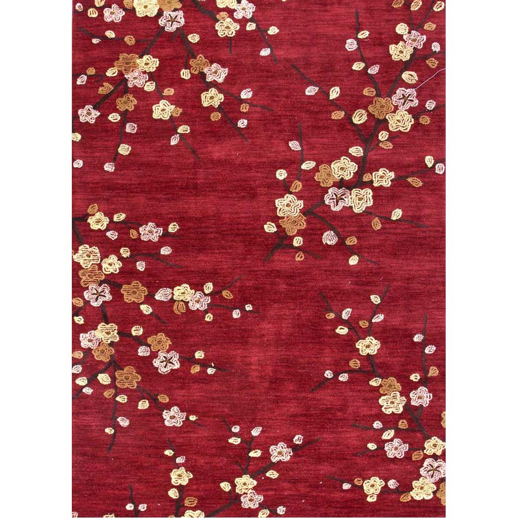 Brio Cherry Blossom Red Area Rug