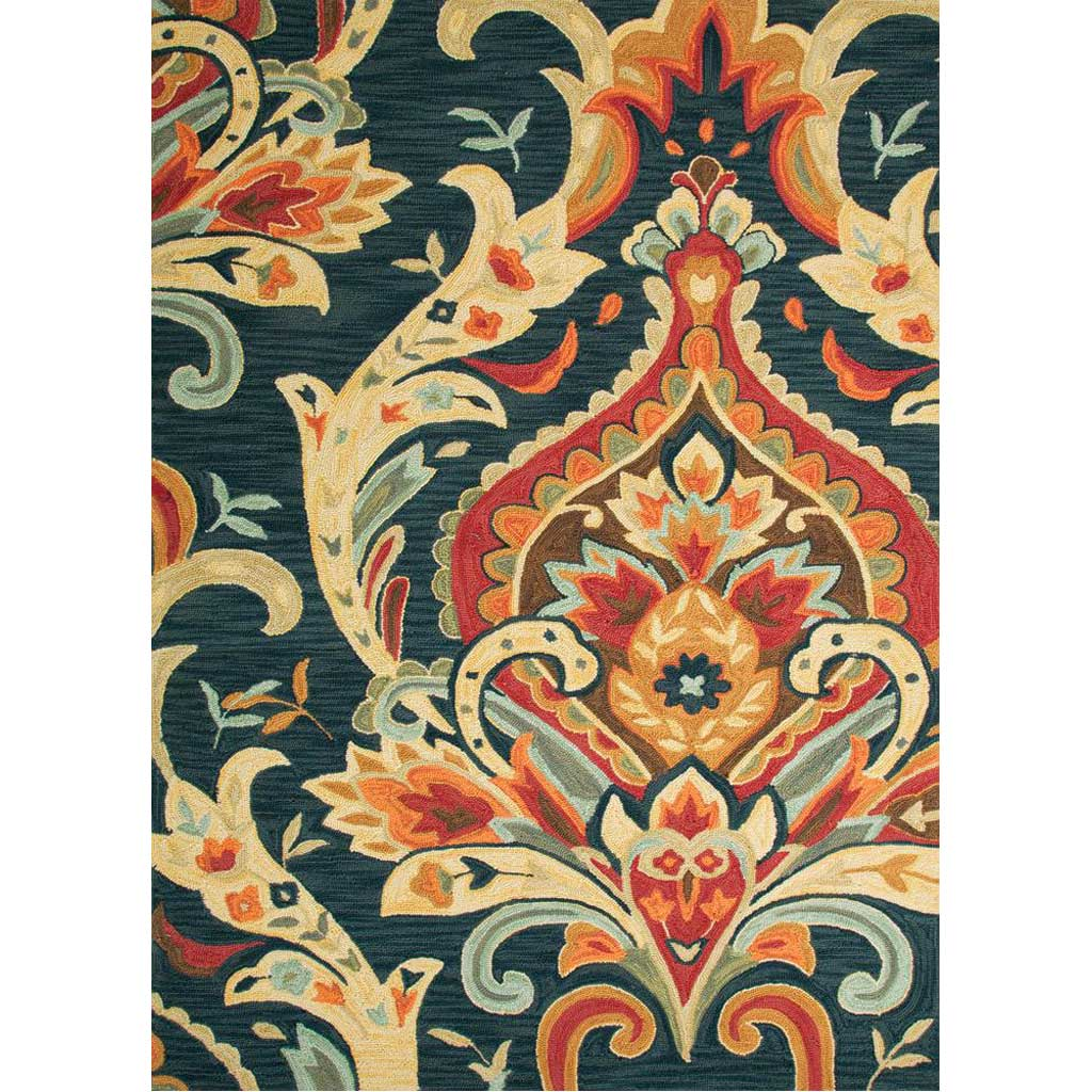 Brio Brocade Navy Area Rug