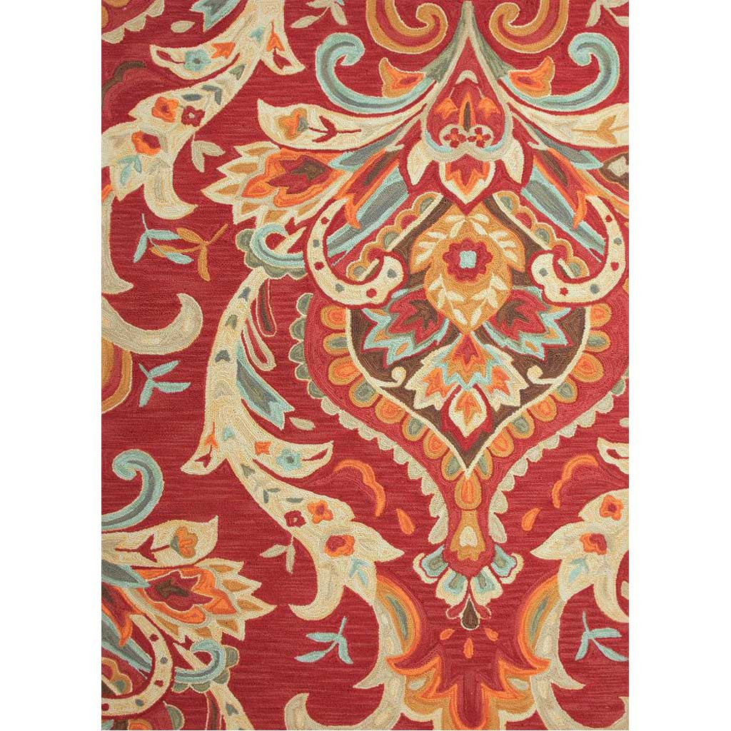 Brio Brocade Burgundy Area Rug
