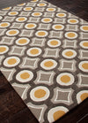 Brio Mosaic Deep Charcoal/Amber Gold Area Rug