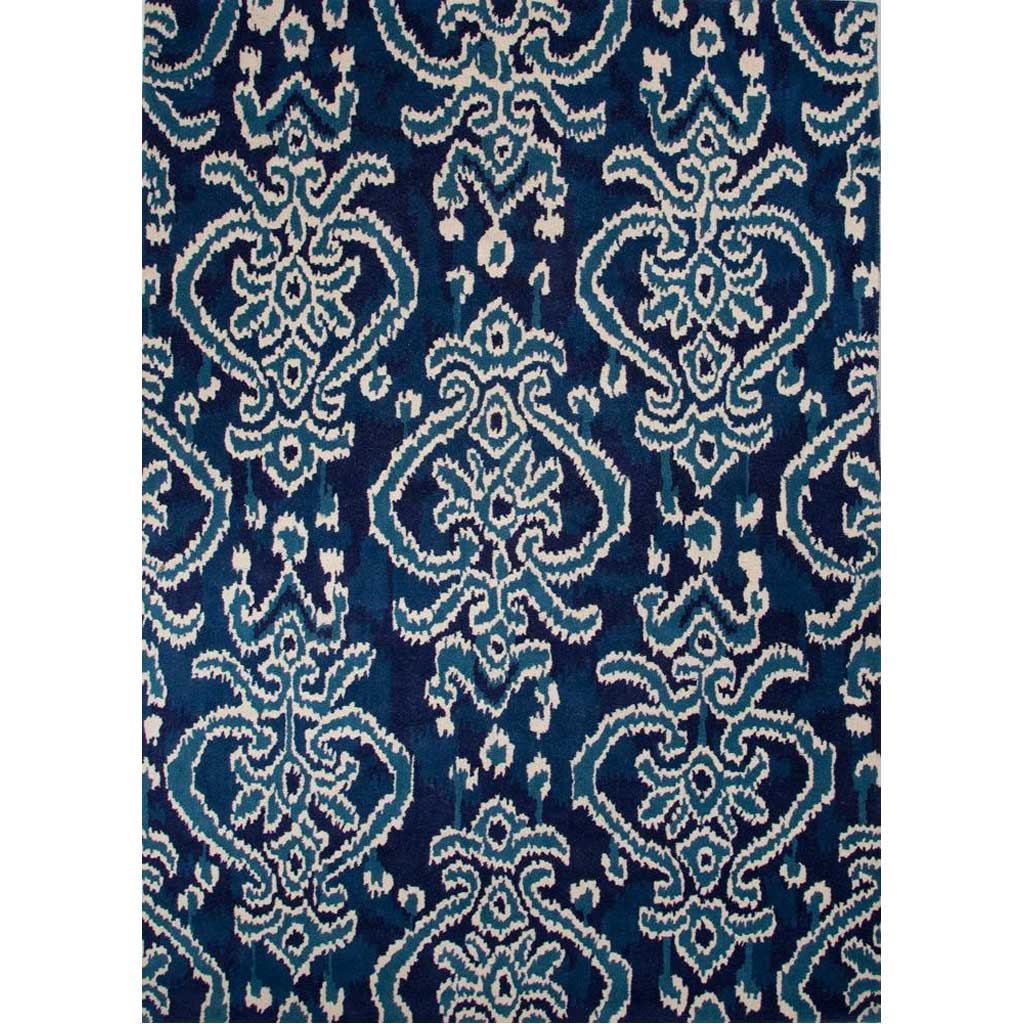 Bristol Serrano Twilight Blue/White Asparagus Area Rug