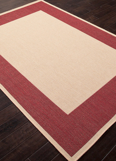 Breeze Picnic Birch/Jester Red Area Rug