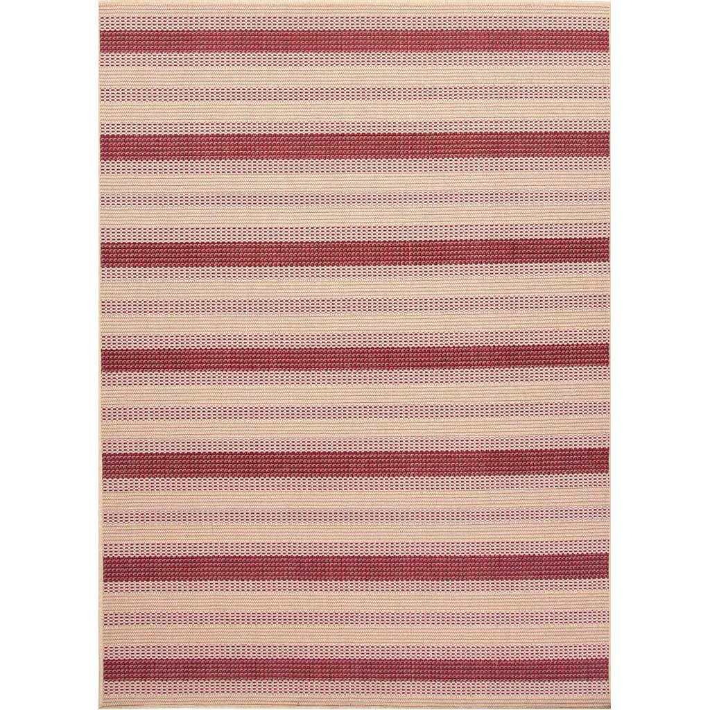 Breeze Pinned Birch/Jester Red Area Rug