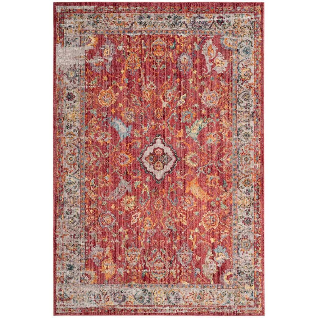 Bristol Garden Rose/Light Gray Area Rug