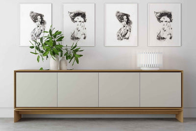 Barnes Sideboard Natural Oak/Frosted Almond