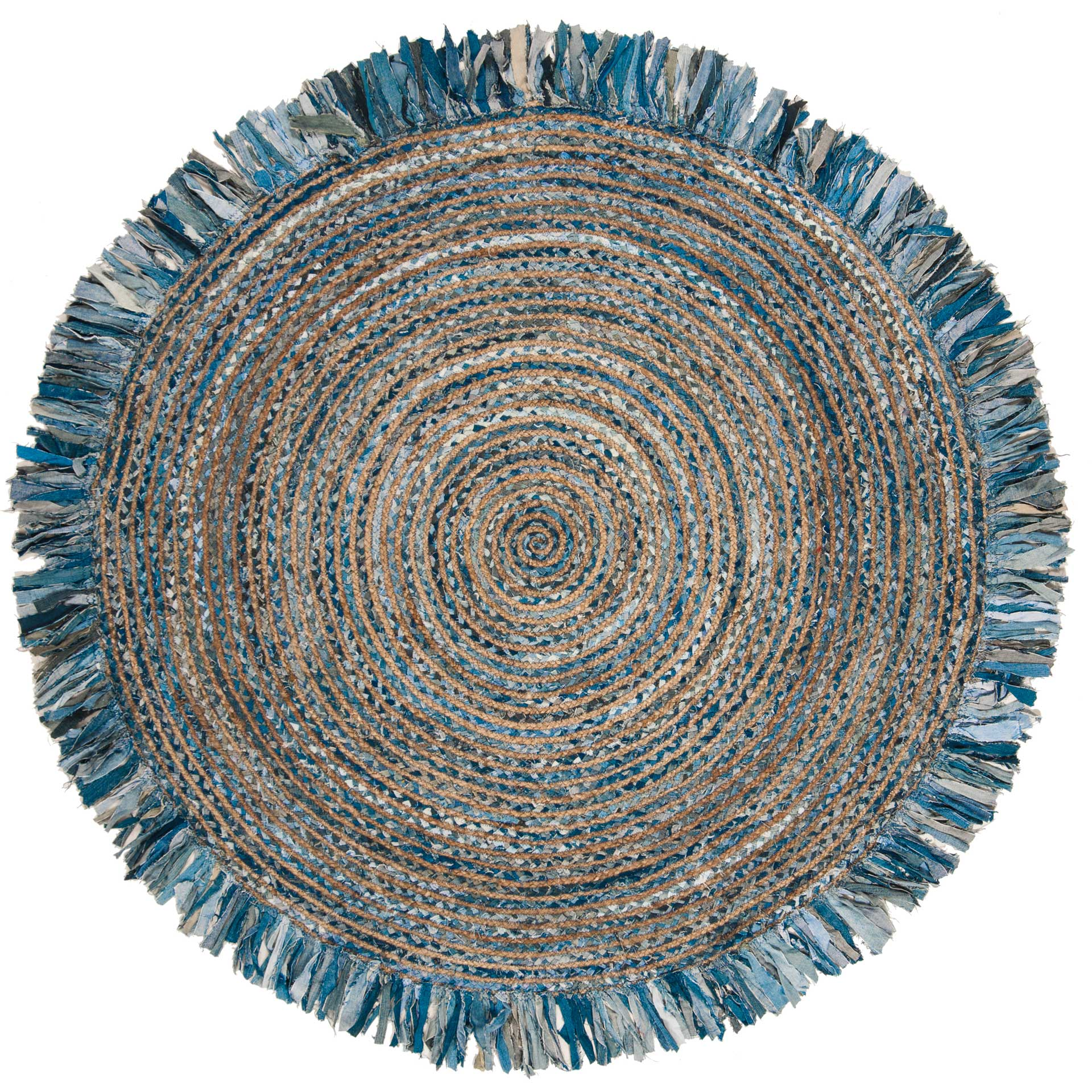 Cape Cod Ivory/Denim Round Rug