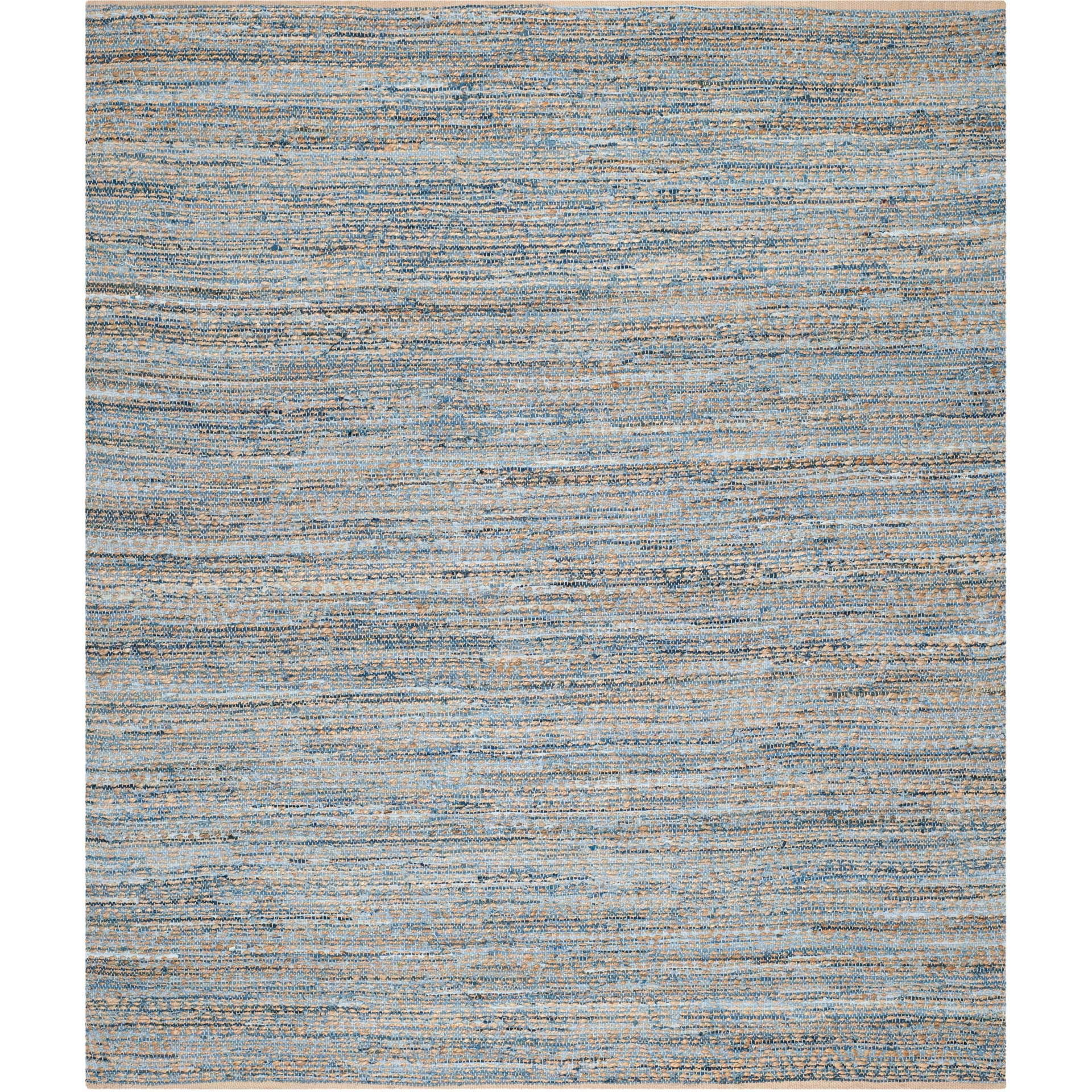 Cape Cod Diamond Natural/Blue Area Rug