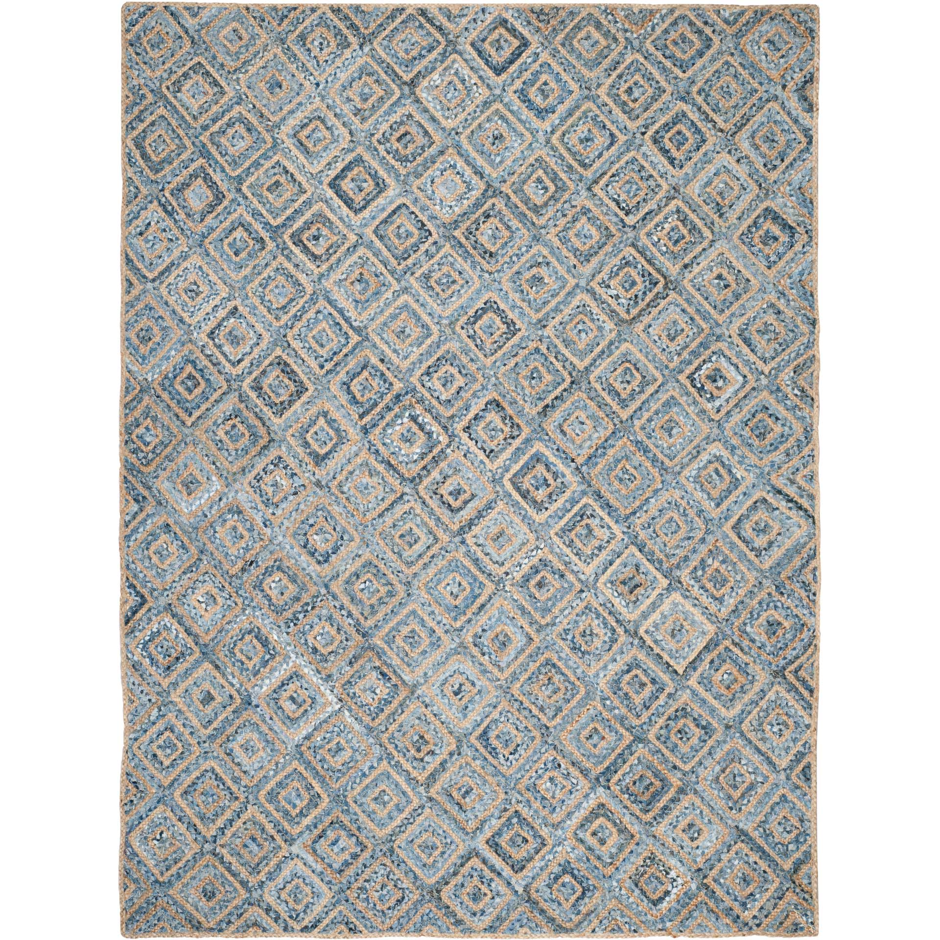Cape Cod Natural/Blue Area Rug