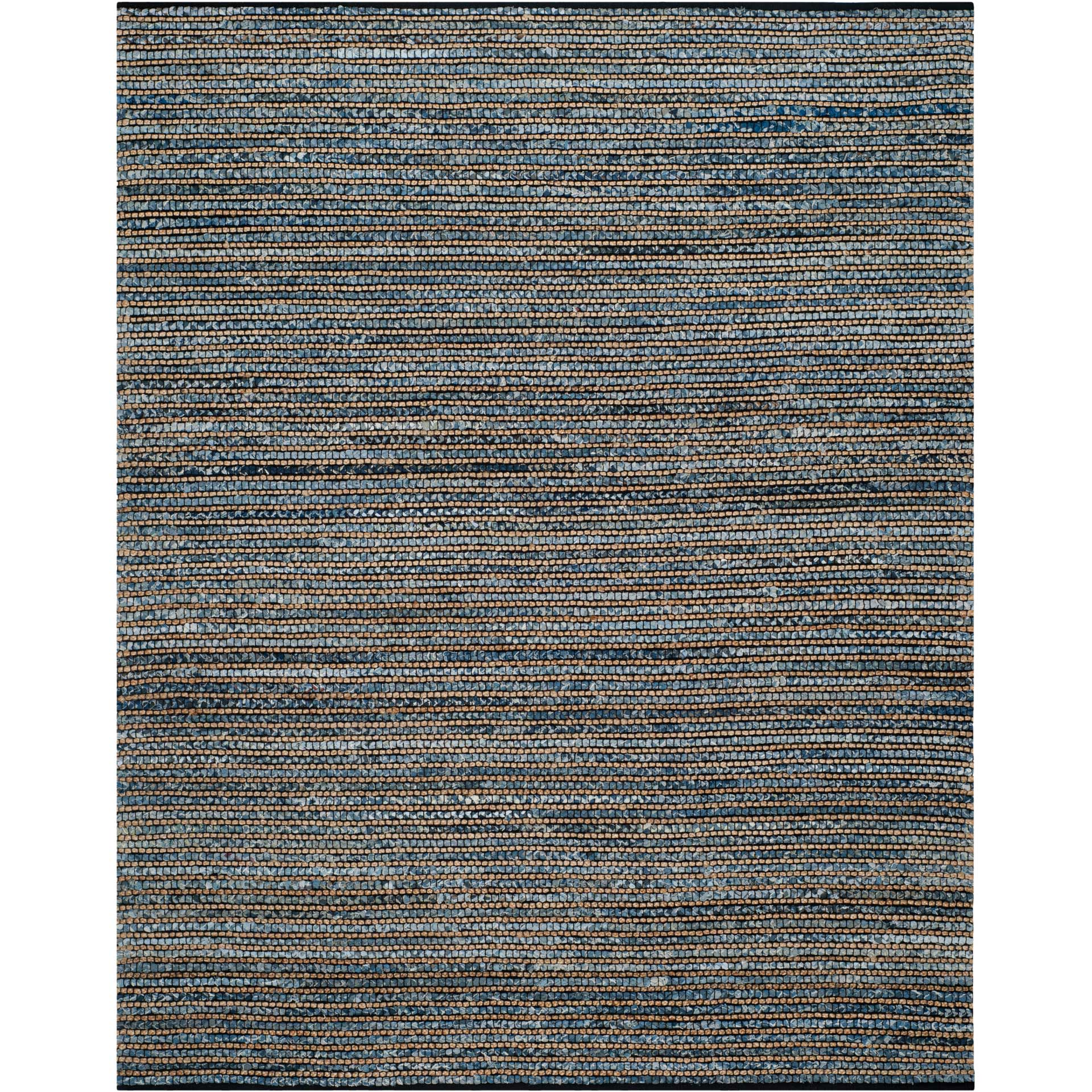 Cape Cod Stripe Blue Area Rug