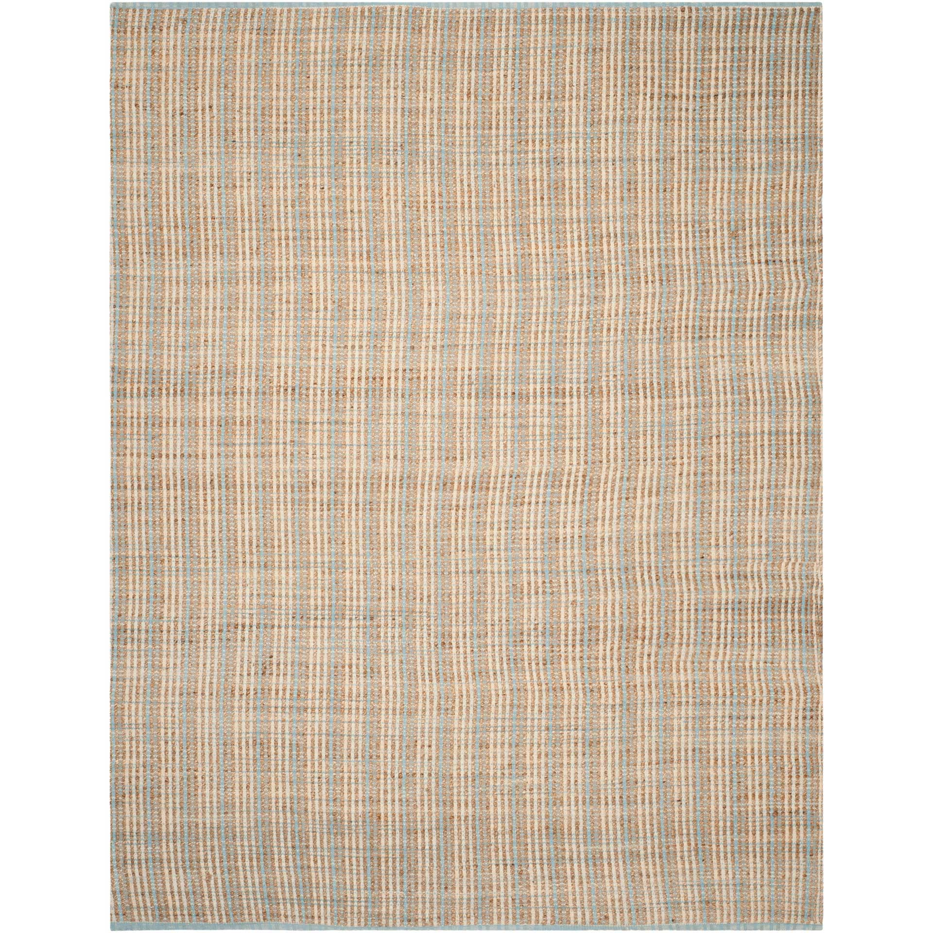 Cape Cod Natural/Light Blue Area Rug