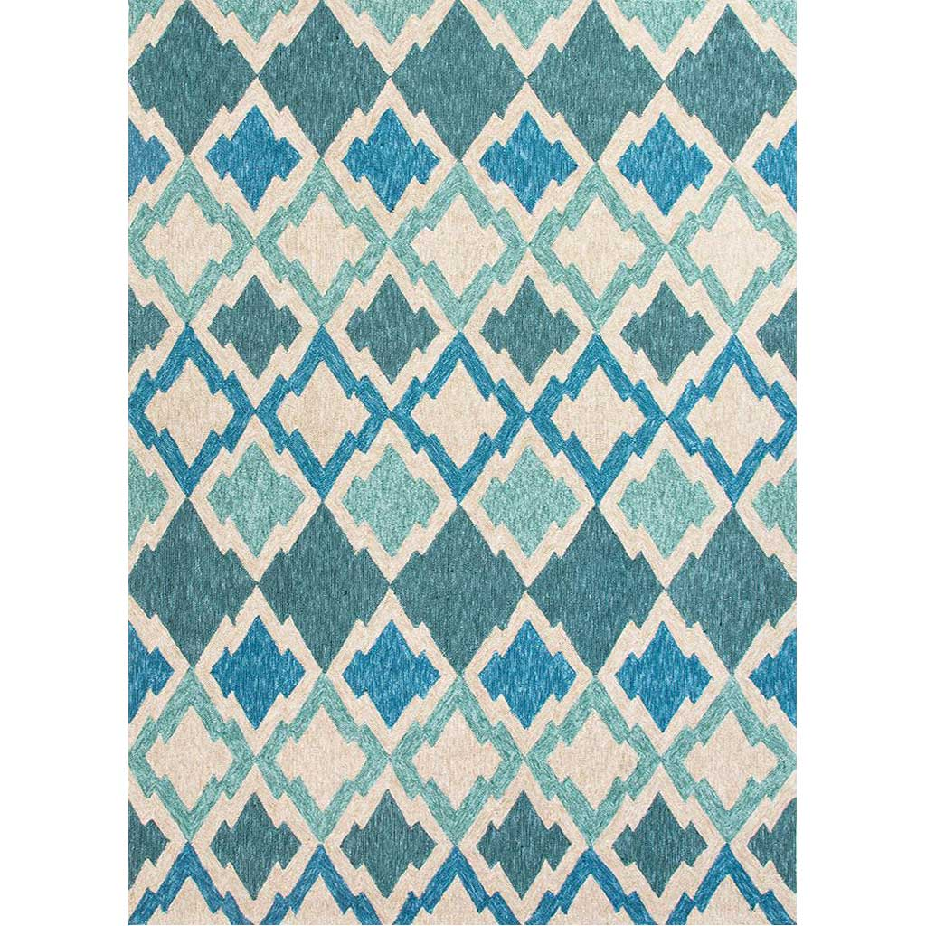 Catalina Flamestitch Blue Area Rug