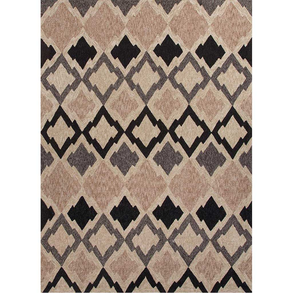 Catalina Flamestitch Gray Area Rug