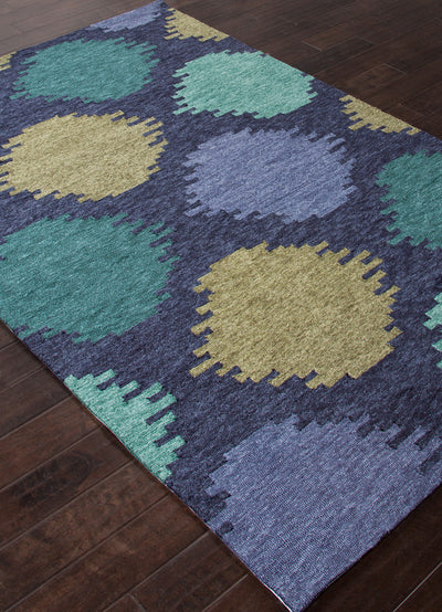 Catalina Static Dot Blue Area Rug