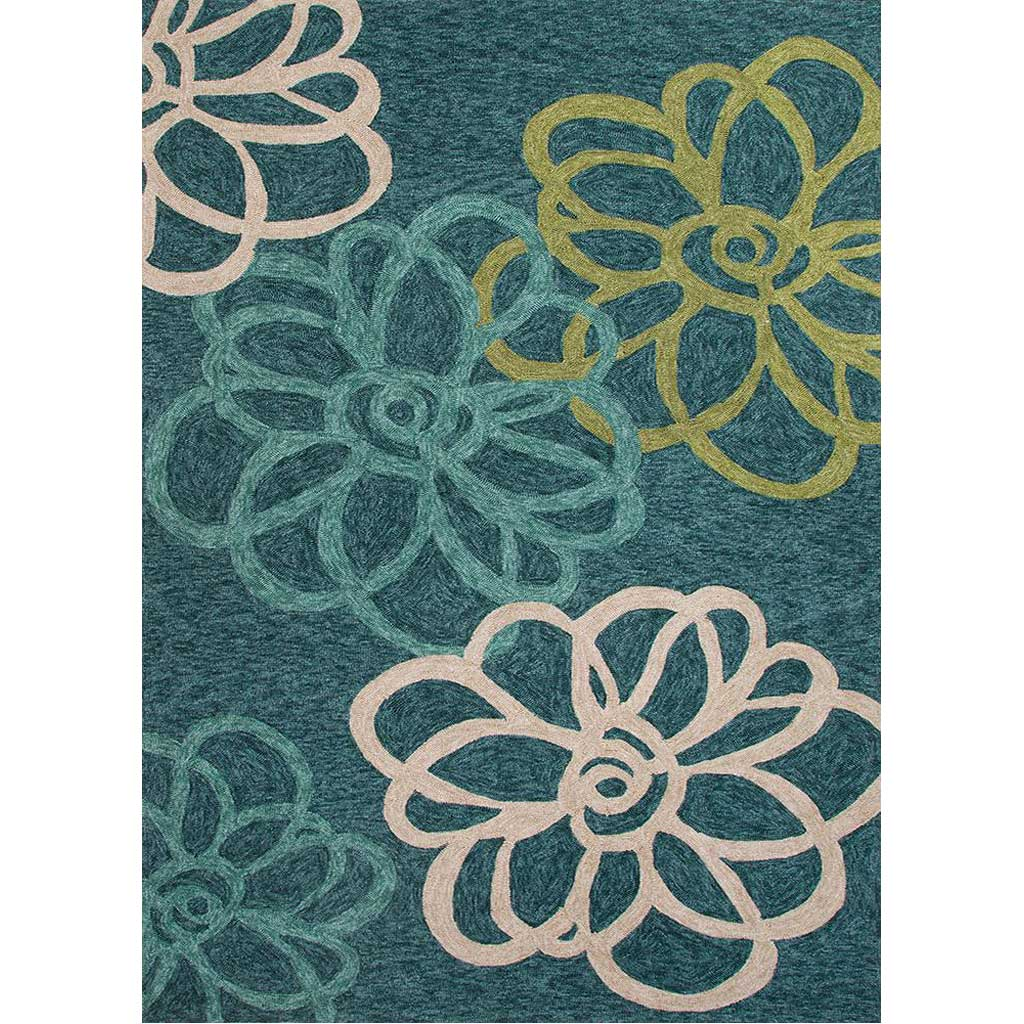 Catalina Blossomed Blue Area Rug
