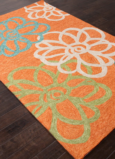 Catalina Blossomed Orange Area Rug