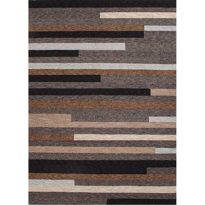 Catalina Offset Lines Gray Area Rug