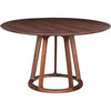 Aldin Round Dining Table Walnut