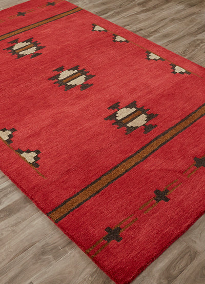 Cabin Fir Red/Gray Area Rug