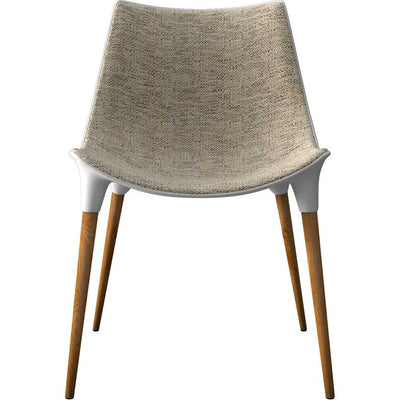 Langham Dining Chair Fabric Oatmeal/Dark Teak