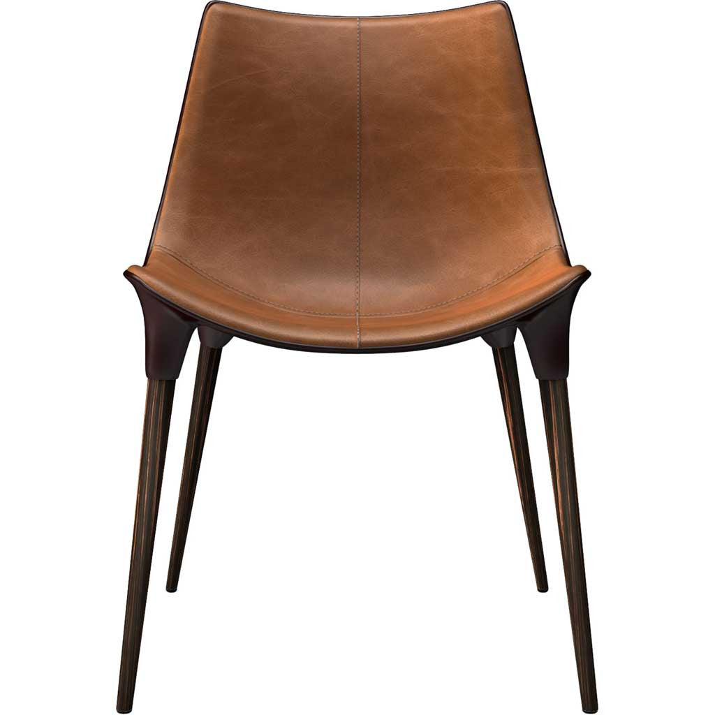 Leather Accent Chairs Metal Legs Caramel.Langham Dining Chair Leather Caramel