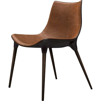 Langham Dining Chair Leather Caramel