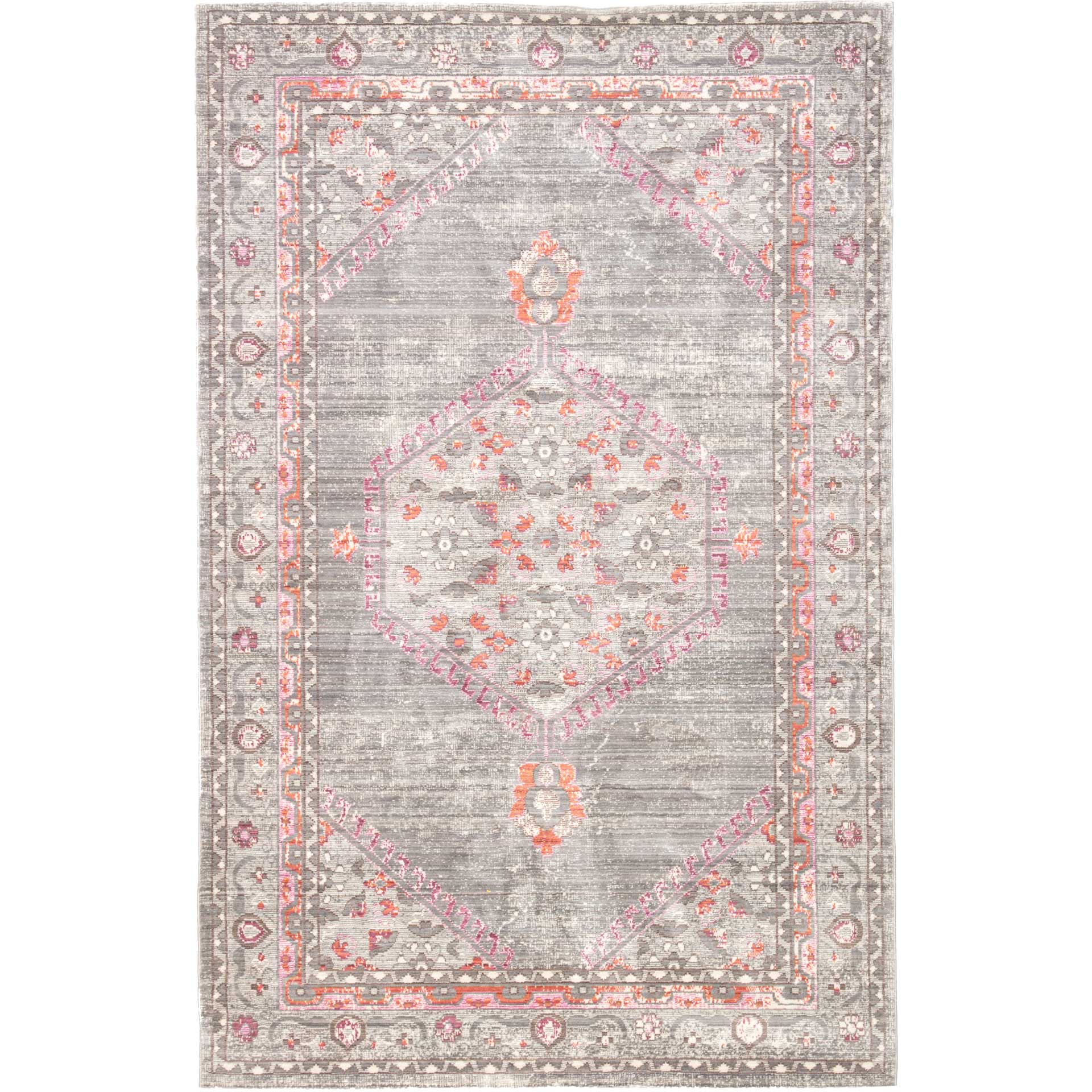 Ceres Eris Gray/Pink Area Rug