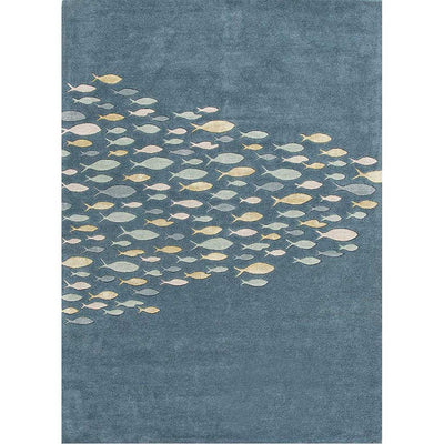 Coastal Resort Schooled Aegean Blue Area Rug