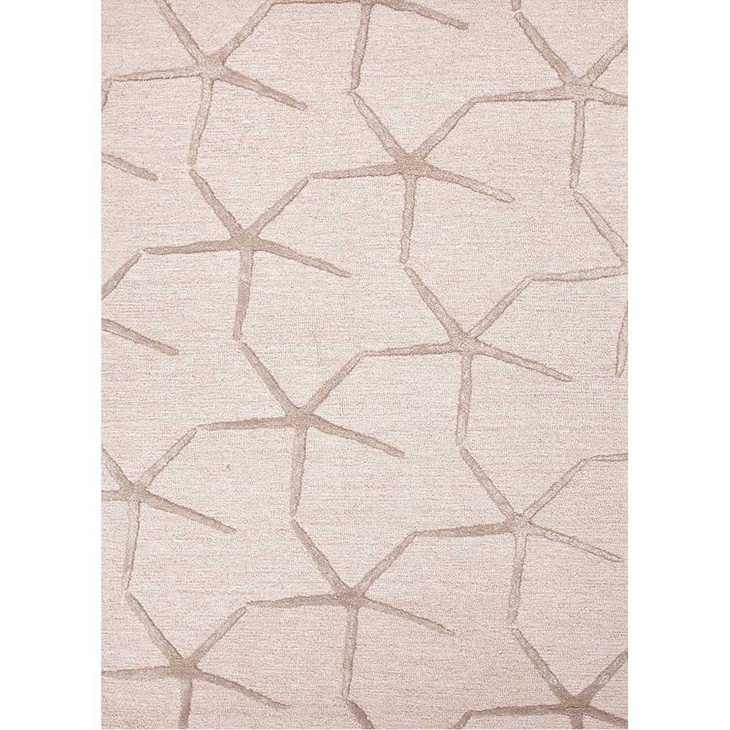 Coastal Resort Starfishing Beige White/Dark Taupe Area Rug
