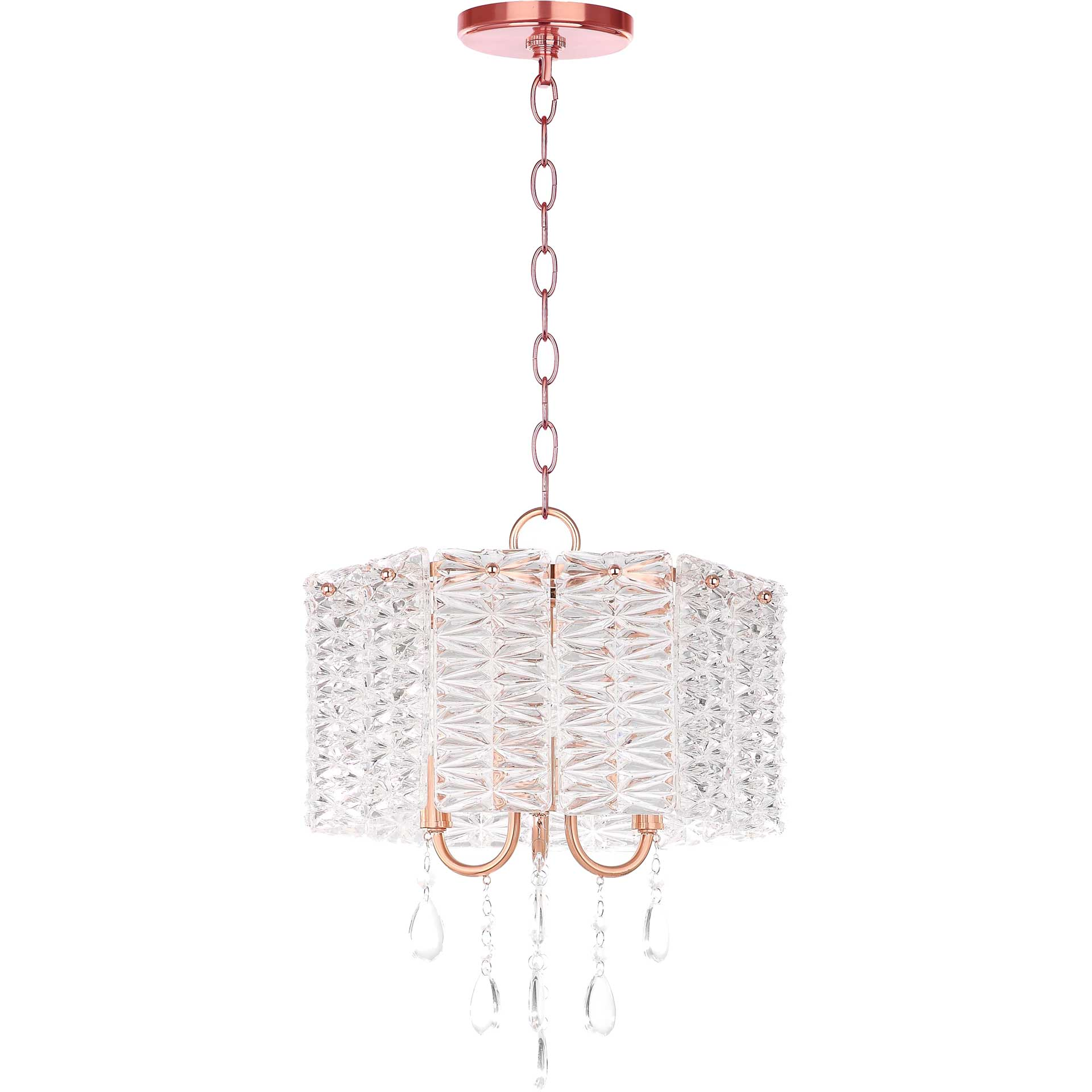 Hamza 3 Light Chandelier Clear/Copper