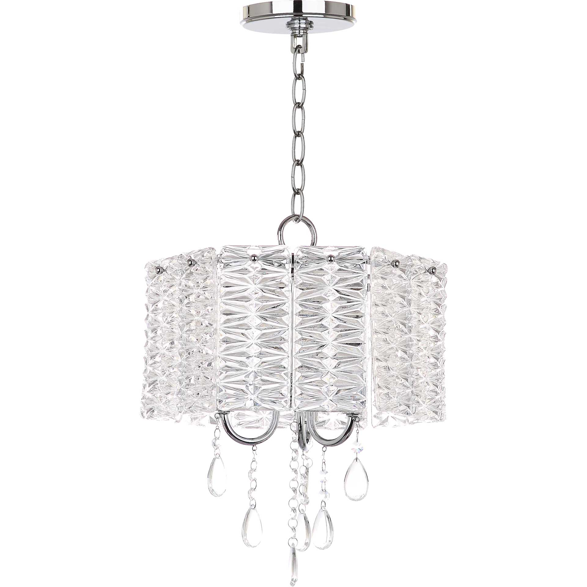 Hamza 3 Light Chandelier Clear/Chrome