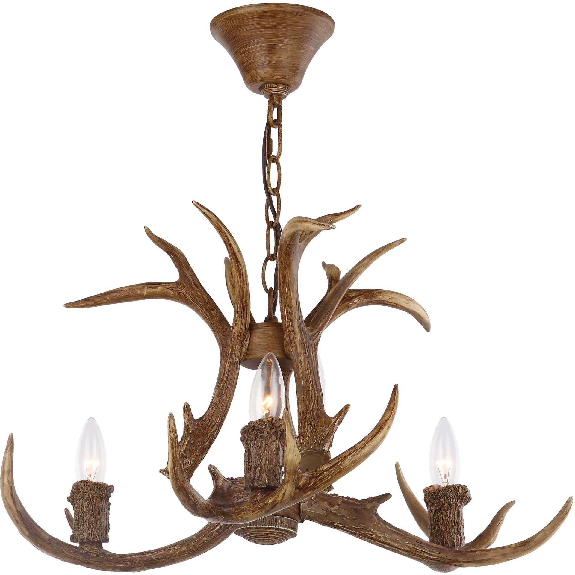 Madelynn Antler Chandelier Brown