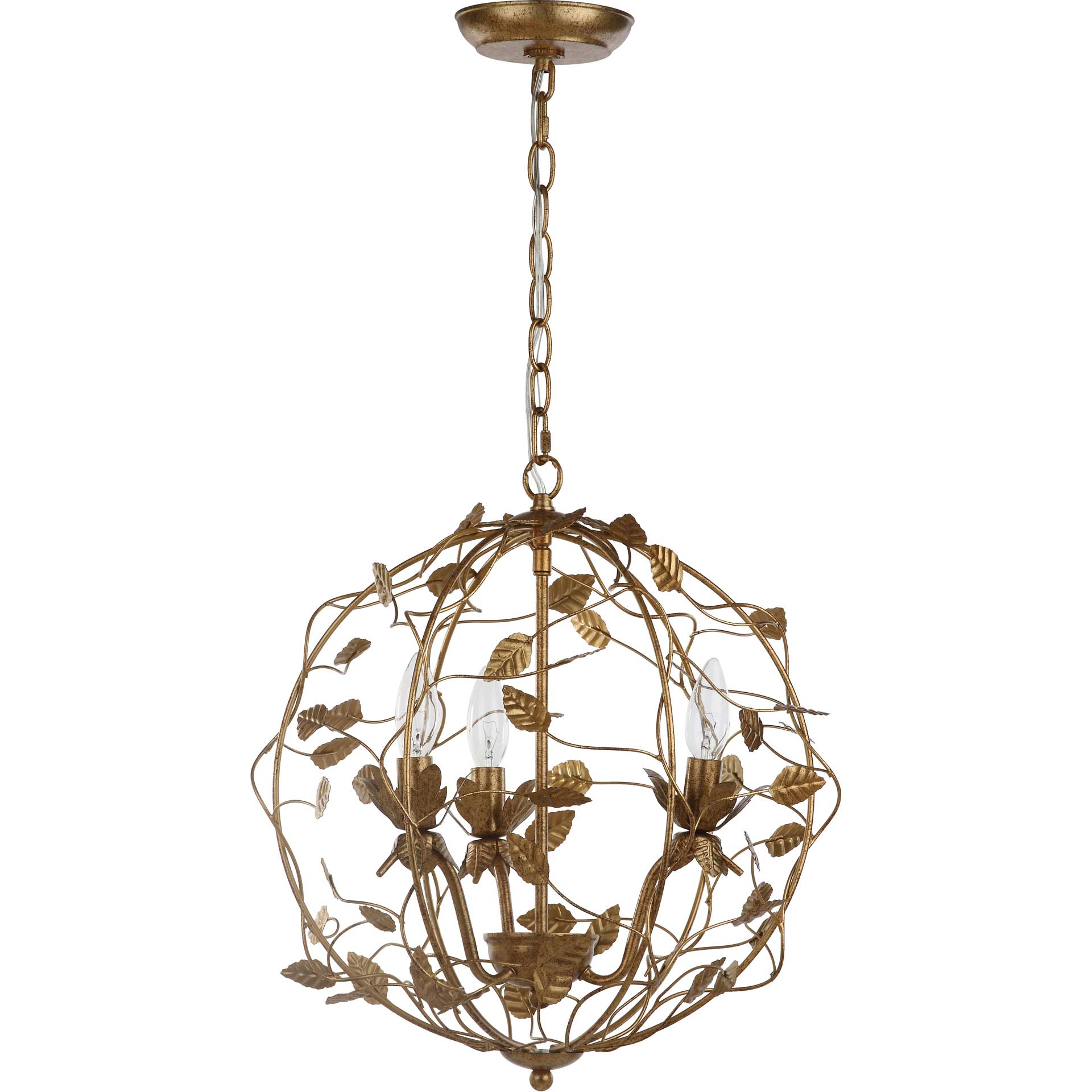 Aurelia Cage Chandelier Gold Leaf