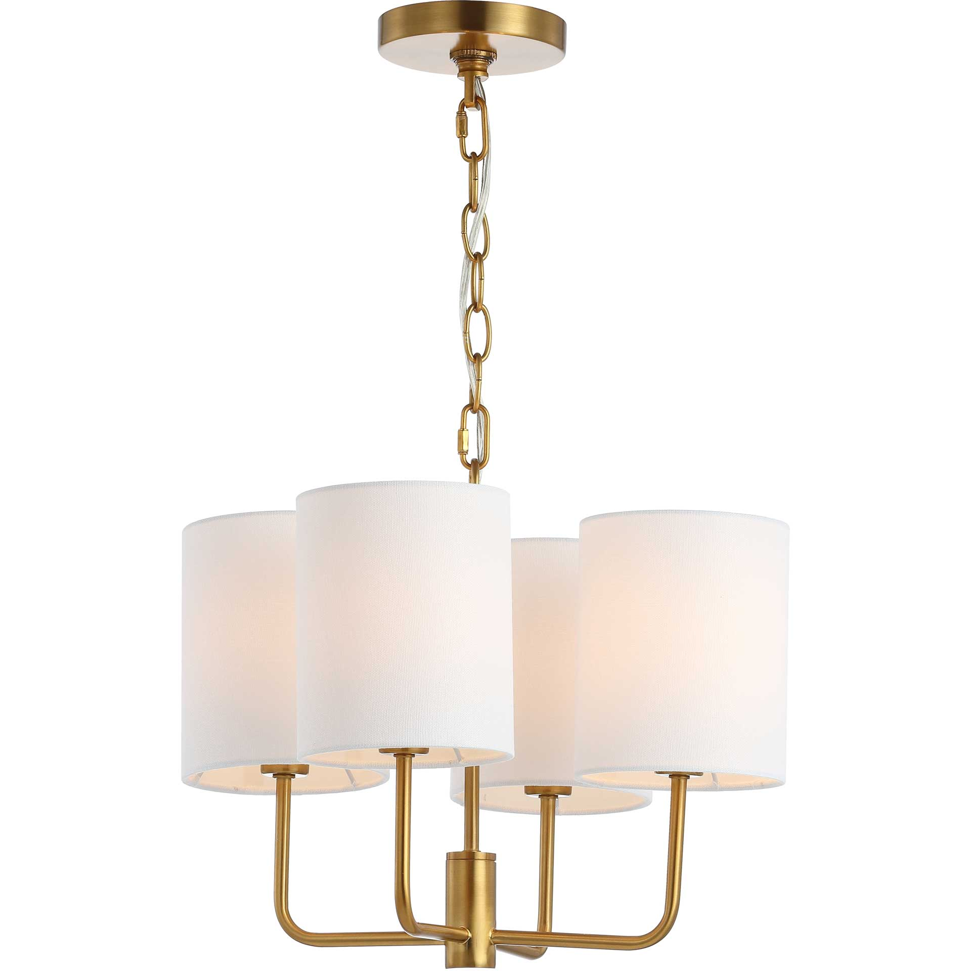 Elysse Chandelier Brass Gold