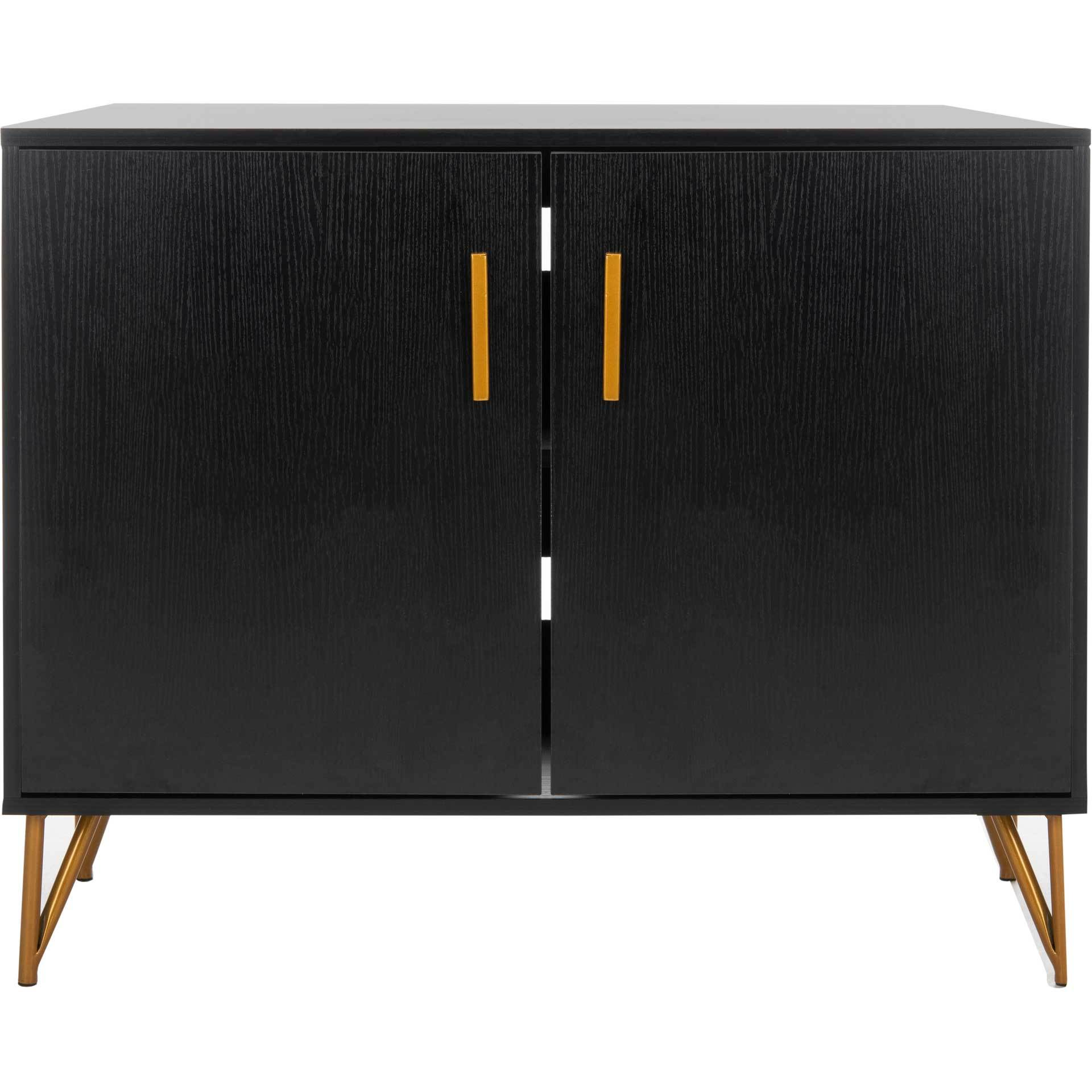 Pierce 2 Door Modular TV Unit Black/Gold