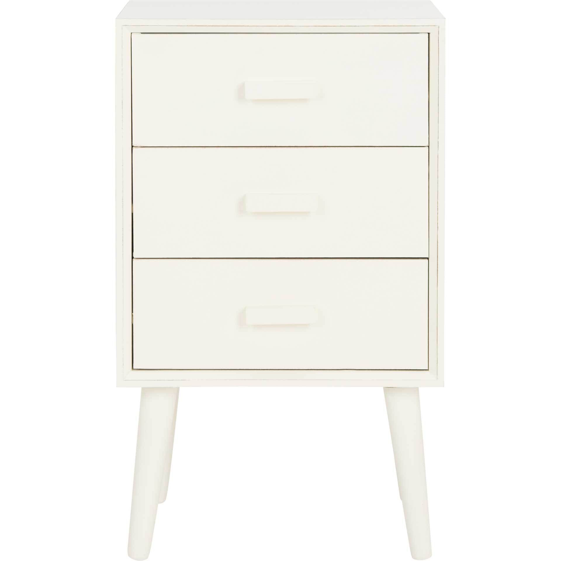 Porter 3 Drawer Chest Distressed White