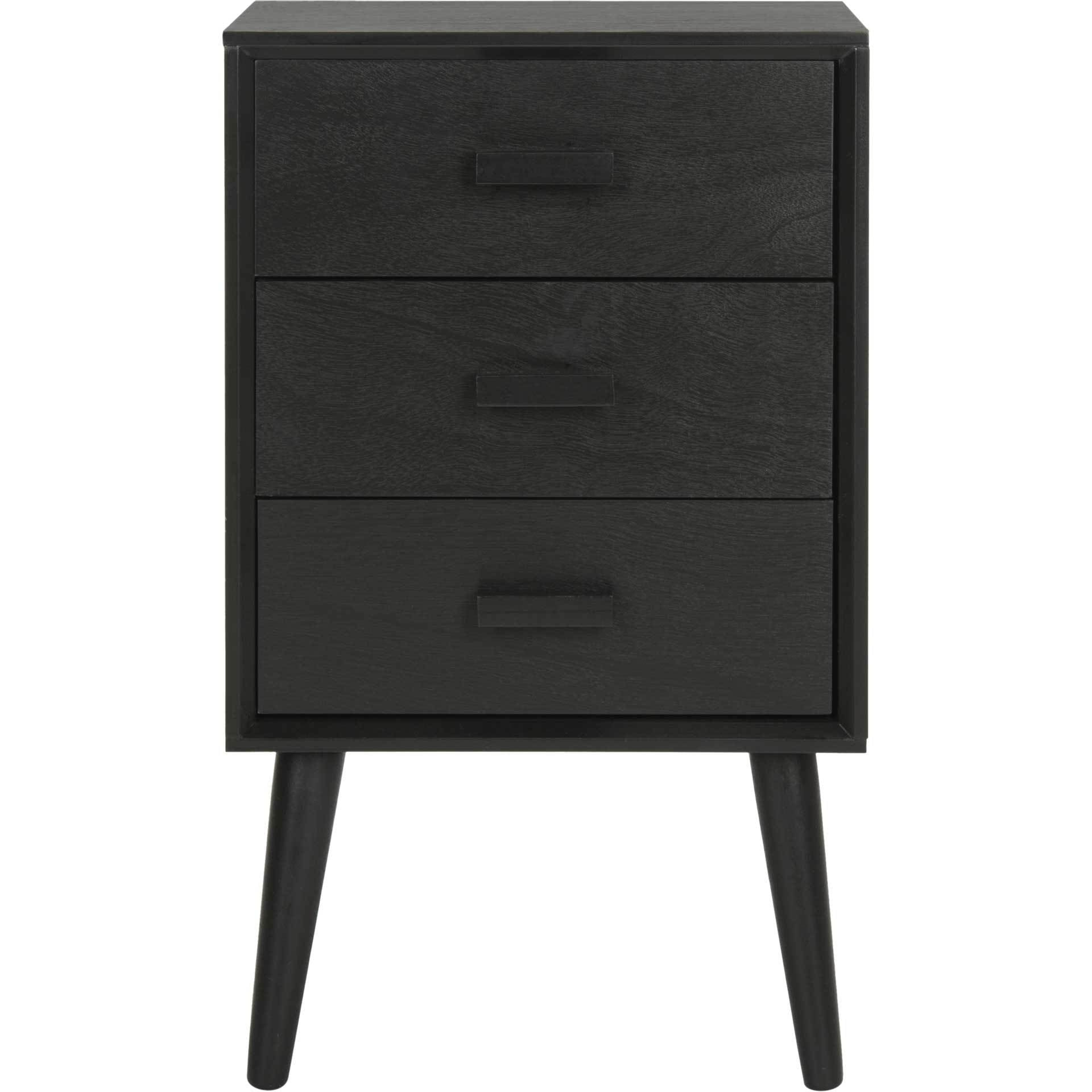 Porter 3 Drawer Chest Black