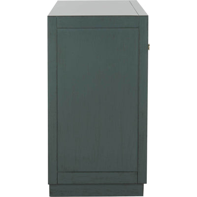 Julio 2 Door Chest Steel Teal/Nickel/Mirror