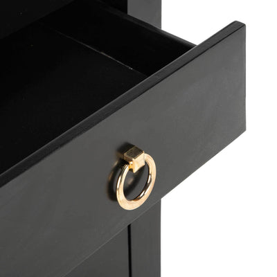 Dillon 3 Drawer Chest Black/Gold