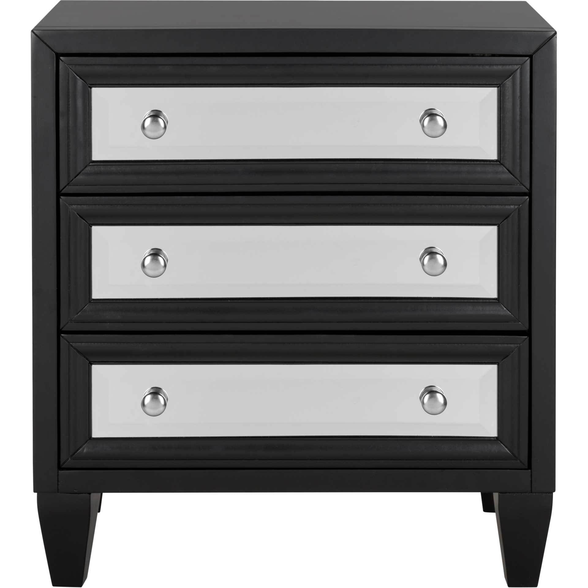 Marvin 3 Drawer Chest Black