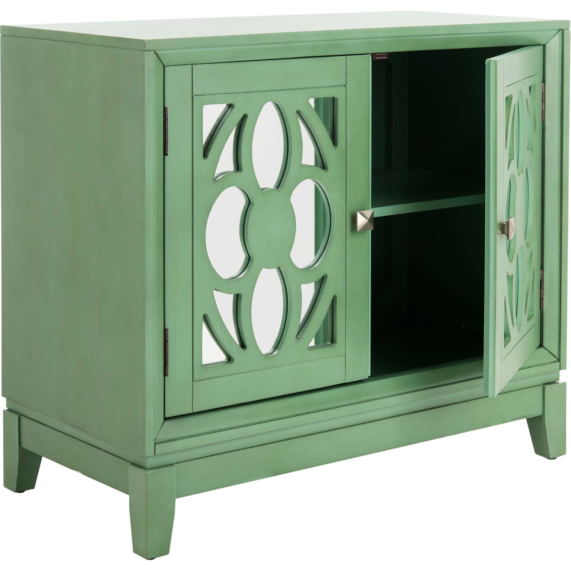 Shadi 2 Door Chest Turquoise/Mirror