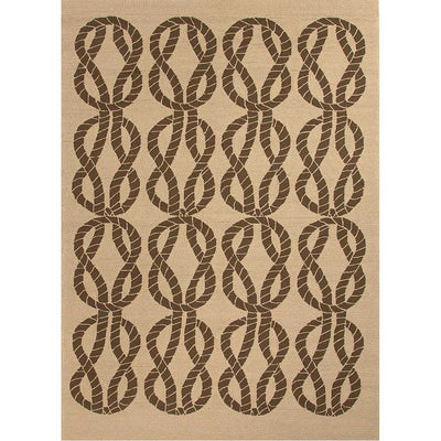 Coastal Lagoon Roped In Beige/Light Brown Area Rug