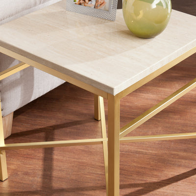 Ori Faux Stone End Table