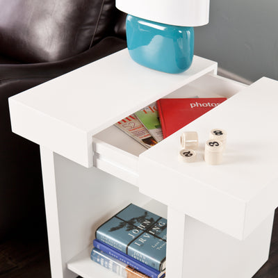 Glidick End Table White