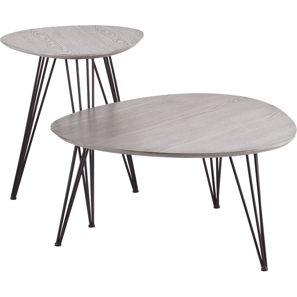 Bannock Table Set Matte Gray (Set of 2)