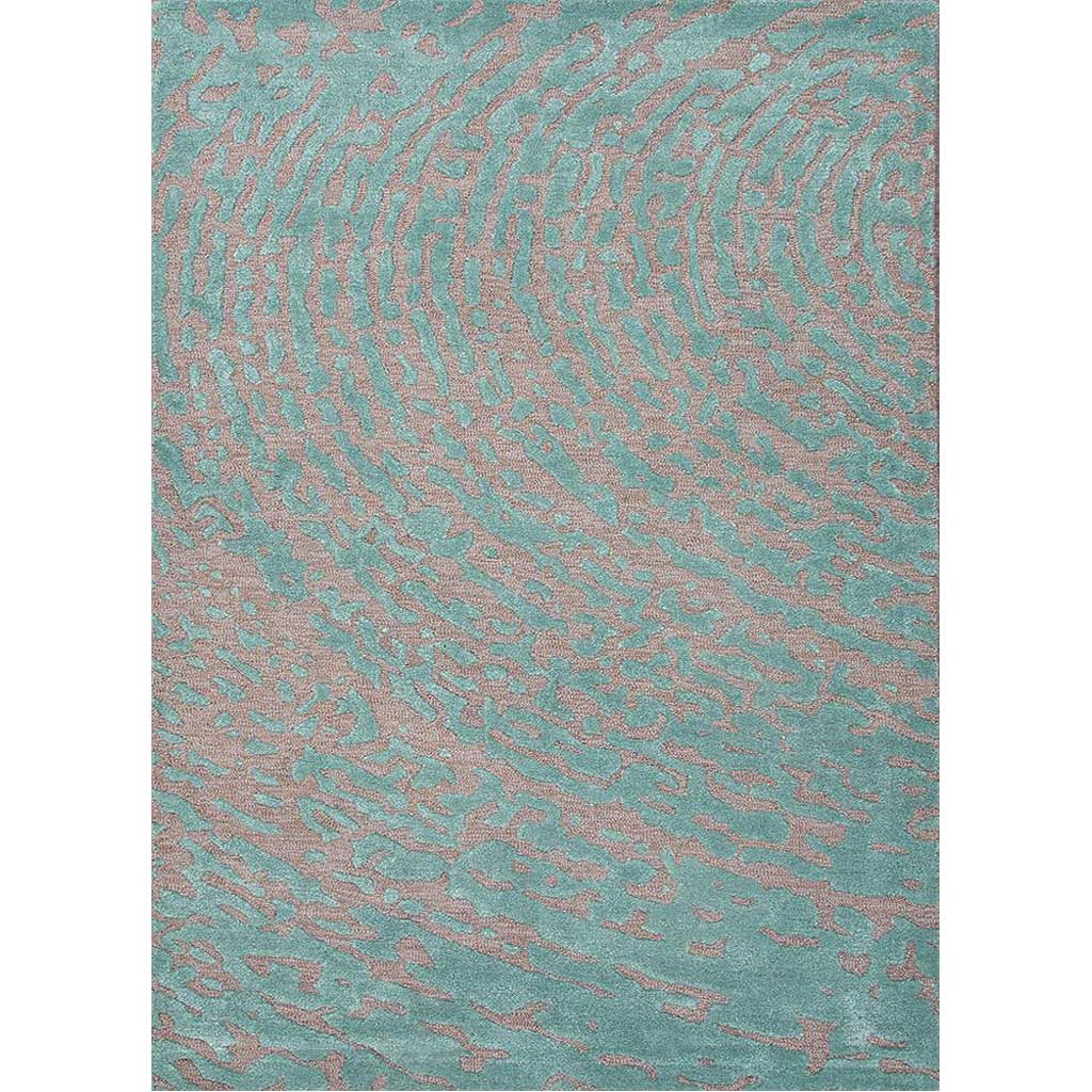 Clayton Daizy Cut & Loop Medium Gray/Aruba Blue Area Rug