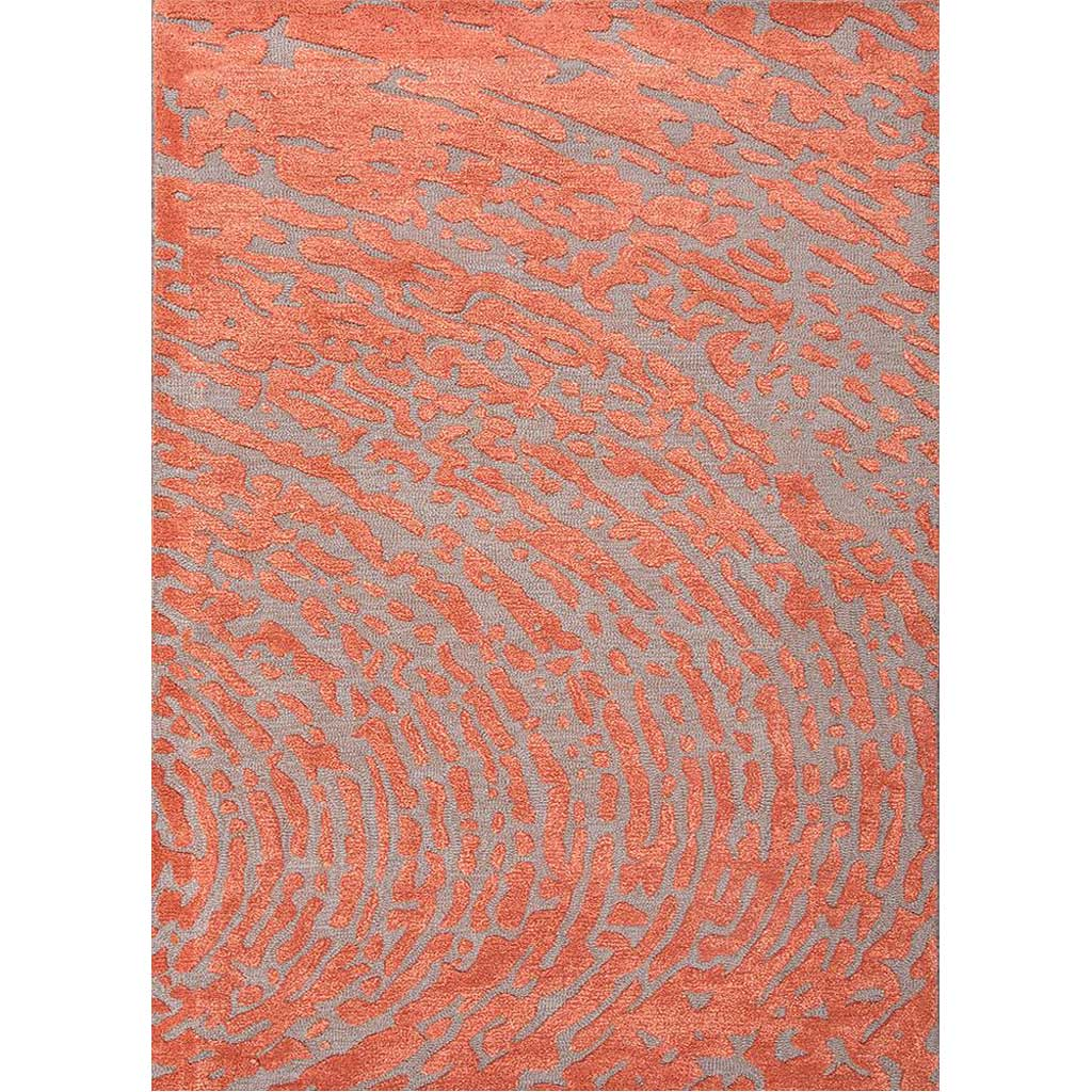 Clayton Daizy Cut & Loop Medium Gray/Russet Area Rug