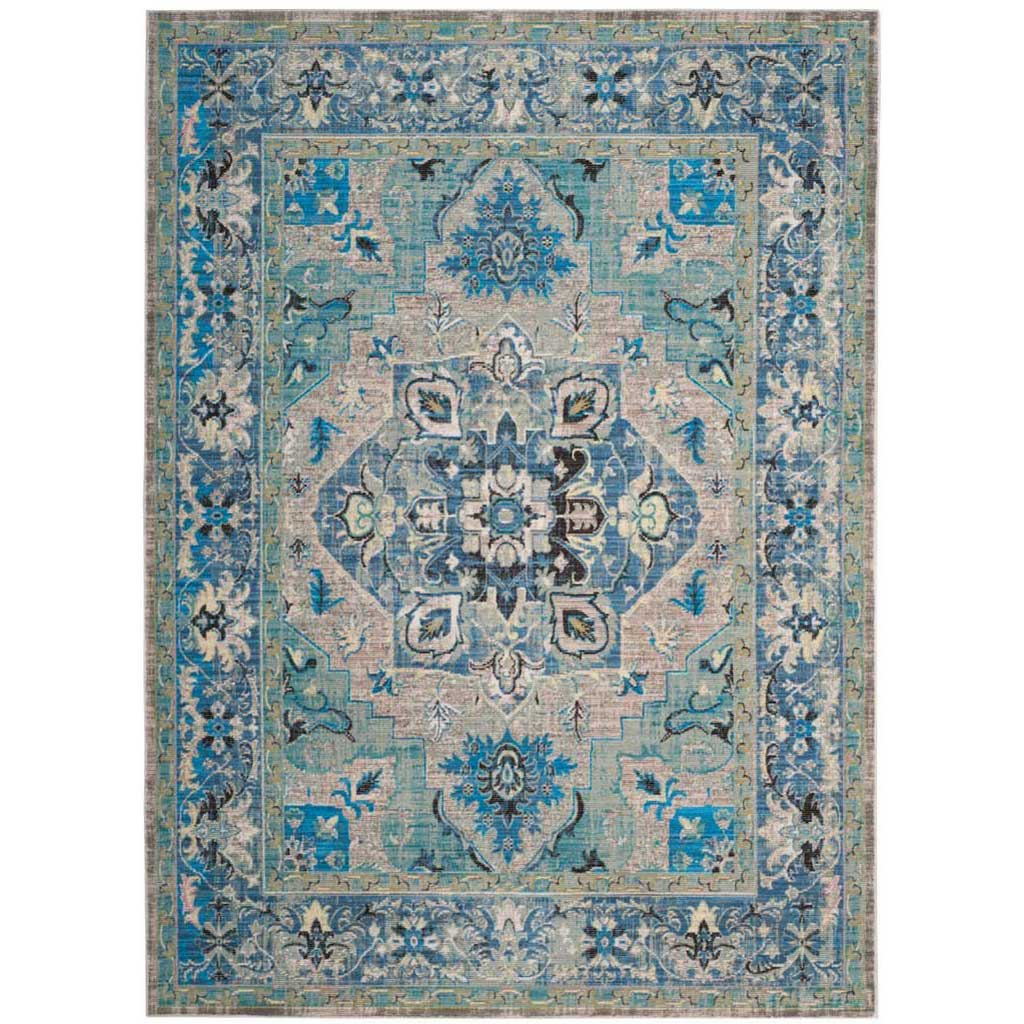Claremont Blue/Light Gray Area Rug